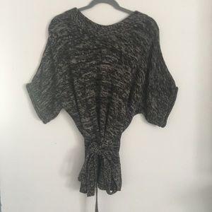 Elle Sweater Women's Medium Belt Oversized Soft